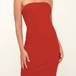Lulu's Red Mini dress with tags!
